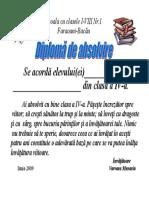 Diploma de Absolvire Cl.a IV-A