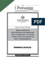 Reglamento de Gestion de Riesgos de Lavado de Activos 2660 2015