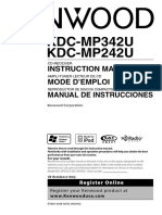 Kenwood KDC-MP342U manual