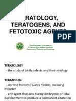 Teratology, Teratogens, And Fetotoxic Agents