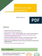 Chapter 2 - Properties Pure Subtances