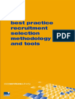 Best Practice Recruitment Selection Methodology and Tools