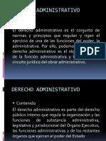 Derecho administrativo. Derecho Publico (Ppt)