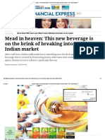 Mead in Heaven_ This New Beverage is on the Brink of Breaking Into Indian Market - The Financial Express
