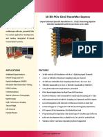 16 Bit Digitizer RazorMax ExpressCS PCIe 1 GS s