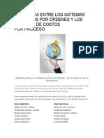 Diferencia Entre Los Sistemas de Costos Por Órdenes y Los Sistemas de Costos Por