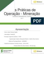 Boas Práticas de Operação - Mineração