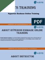 Hyperion Essbase Online Training - Hyperion Essbase Training