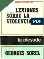 Sorel Reflexiones Sobre La Violencia