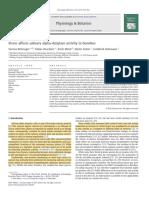 1 Stress Affects Salivary Alpha-Amylase Activity in Bonobos