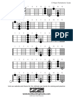 Bbt Bass Scale Major Pentatonic e
