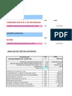 Costos Unitarios Tipos de Carpetas Para Rodamiento