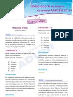 Examen de San Marcos 2011_solucionario de la parte de aptitud