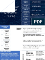 Techniques and Methods of Costing