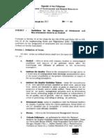 MC 2005-013 - Airshed Designation of Attainment and Non-Attainment Areas