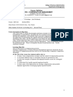 Compensation Mgt Syllabus Jan 2015