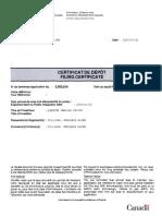 Quantum Imaging Device Patent Filing Certificate