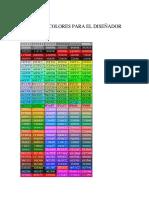 Código de Colores Para El Diseñador Android