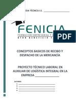 3 Conceptos Basicos de Recibo y Despacho de La Mercancia Logistica
