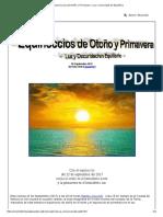 Equinoccios de Otoño y Primavera - Luz y Oscuridad en Equilibrio