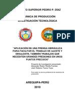154648121 Proyecto de La Prensa Hidraulica