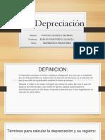 La Depreciación