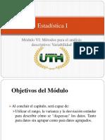 Objetivos Modulo VI Metodos Para El Analisis Descriptivo Variabilidad