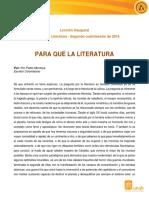 Para Qué La Literatura - Pablo Montoya