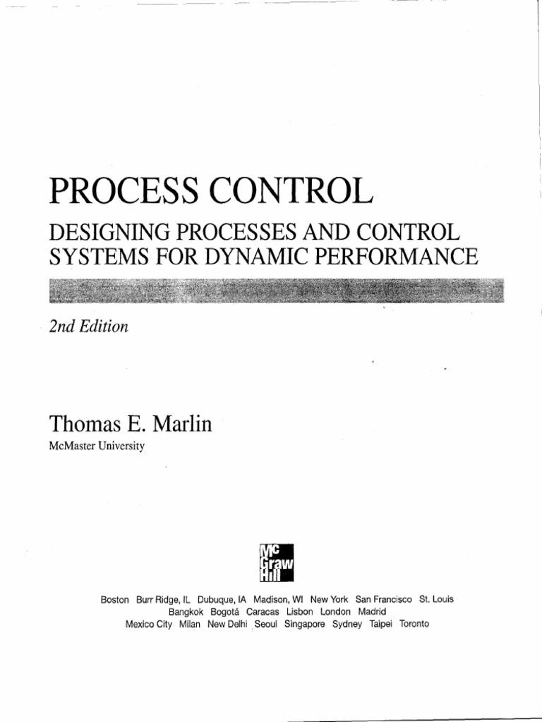 Process Control Thomas E Marlin Control Theory Systems Theory