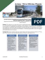 Corridor Economic Development & Community Outreach Progress Report for Camelback Trade Area September 2016 – November 2017