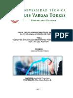 Codigo de ética de los servidores públicos y del auditor- VALERIA STEFANIA CABRERA REVELO - 6B.docx