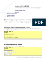 Basic Game Programming With FreeBASIC -Rev1