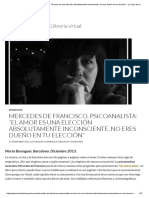 """Mercedes de Francisco, Psicoanalista_ """"El Amor Es Una Elección Absolutamente Inconsciente, No Eres Dueño en Tu Elección"""" - La Casa de La Paraula · Llibreria Virtual"""