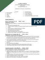 Laura Achatz Executive-Administrative Assistant Resume