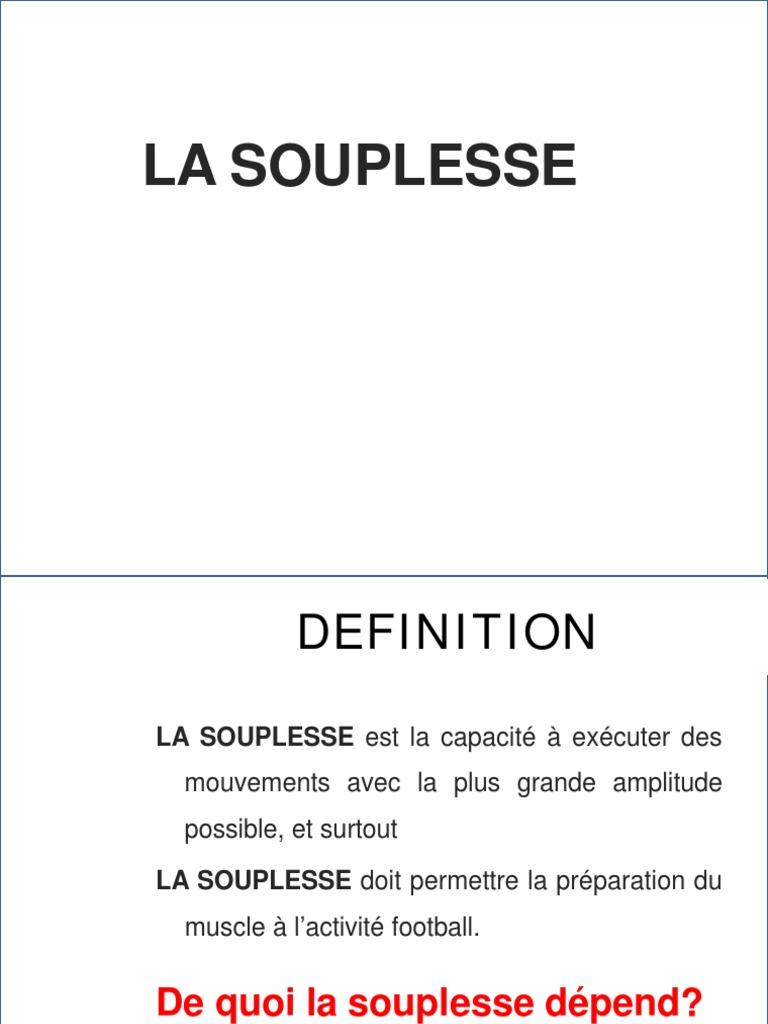 La Souplesse Lic C 2015 Stag Pdf Muscle Bien Etre