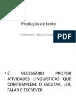 Produção de Texto Para Palestrar