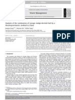 Analysis of the Combustion of Sewage Sludge-Derived Fuel by a Thermogravimetric Method in China