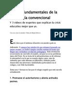 7 Fallas Fundamentales de La Pedagogía Convencional