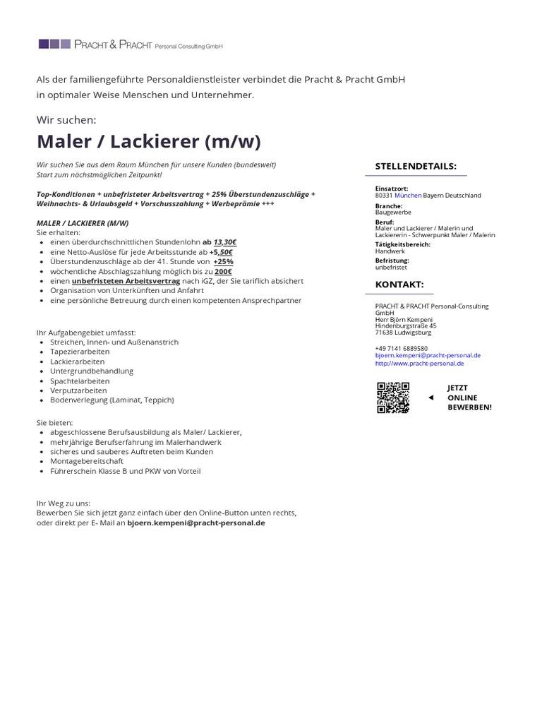 Maler Lackierer Mw
