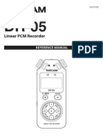 Tascam DR-05 Reference Manual