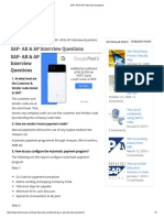 SAP- AR & AP Interview Questions