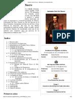 Antonio José de Sucre - Wikipedia, La Enciclopedia Libre