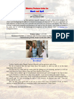 Ministry Partner Letter March and April 2018