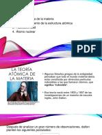 TEORIA ATOMICA DE  LA MATERIA