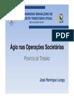 Ágio nas Operações Societárias
