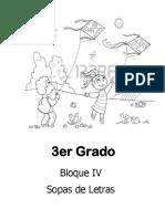 3er Grado - Bloque 4 - Sopa de Letras