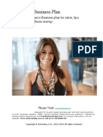 Salon and Wellness Business Plan