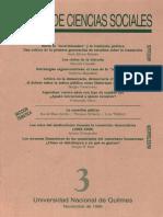 Artículo Tibeletti en Revista de Ciencias Sociales de La UNQ