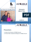 """How to Save Money with AZ ABLE"" Webinar Slides"
