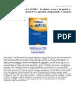 Pratique de LAMDEC 2e Édition Assurez La Qualité Et La Sûreté de Fonctionnement de Vos Produi